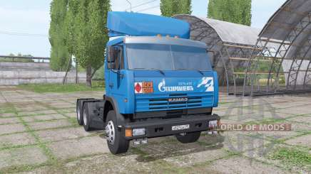 КАМАЗ 54115 Газпром нефть v1.3 для Farming Simulator 2017