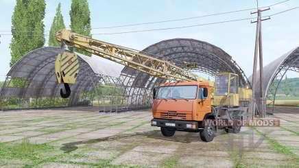 КАМАЗ 43255 кран для Farming Simulator 2017