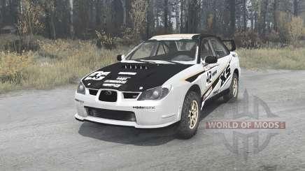 Subaru Impreza WRX STi (GDB) 2007 Rally для MudRunner