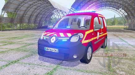 Renault Kangoo Extrem 2013 Sapeurs-Pompiers v1.1 для Farming Simulator 2017