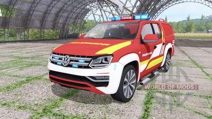 Volkswagen Amarok Double Cab feuerwehr v1.1 для Farming Simulator 2017