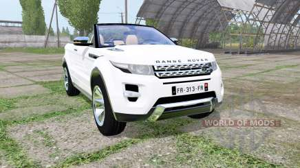 Land Rover Range Rover Evoque convertible 2016 для Farming Simulator 2017