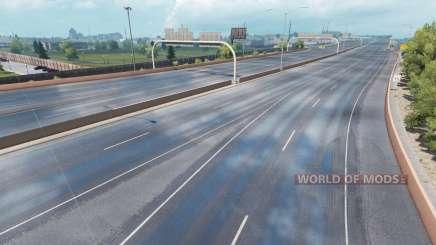 Улучшенный дождь для American Truck Simulator