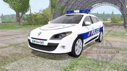 Renault Megane Estate 2009 Police Nationale v2.0 для Farming Simulator 2017