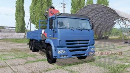 КАМАЗ 65117-773010-19 КМУ Palfinger для Farming Simulator 2017