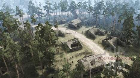 Заброшенная деревня для Spintires MudRunner