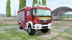 MAN TGM 13.290 Feuerwehr для Farming Simulator 2017