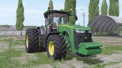 John Deere 8320R dual rear для Farming Simulator 2017