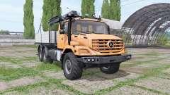 Mercedes-Benz Zetros 2733 A crane-manipulator для Farming Simulator 2017