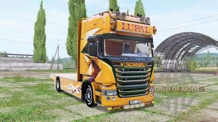 Scania R Topline Lupal для Farming Simulator 2017