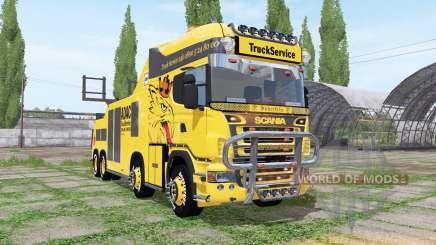 Scania R500 tow truck v1.1 для Farming Simulator 2017