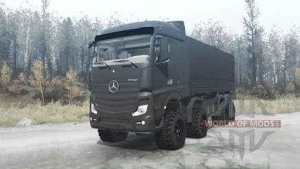 Mercedes-Benz Actros (MP4) 8x8 v3.0 для MudRunner