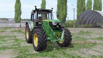 John Deere 6115M wide tyre для Farming Simulator 2017