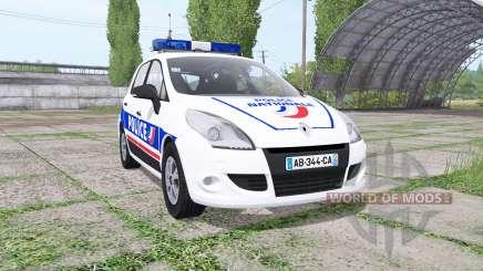 Renault Scenic (JZ) 2009 Police National для Farming Simulator 2017