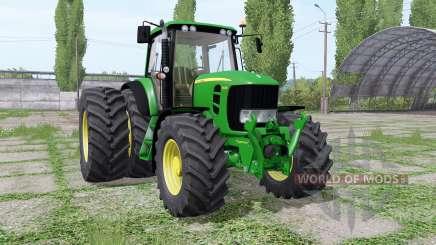 John Deere 7430 Premium dual rear для Farming Simulator 2017