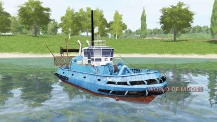 Синее судно для Farming Simulator 2017