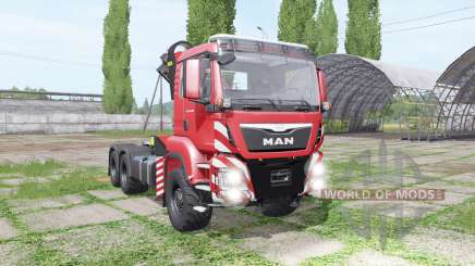 MAN TGS 26.480 crane v1.5 для Farming Simulator 2017