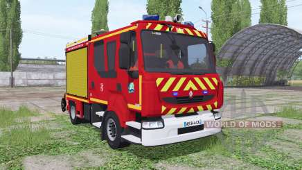 Renault Midlum Crew Cab Firetruck для Farming Simulator 2017