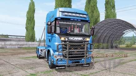 Scania R730 V8 Topline hooklift v1.0.4.5 для Farming Simulator 2017