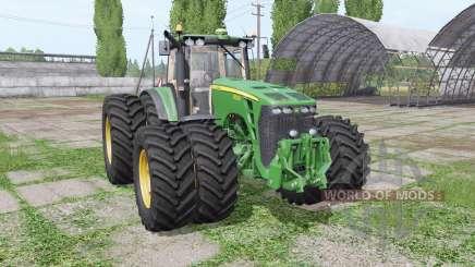 John Deere 8530 twin wheels для Farming Simulator 2017