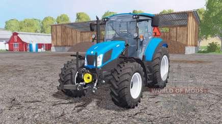 New Holland T5.115 front loader для Farming Simulator 2015