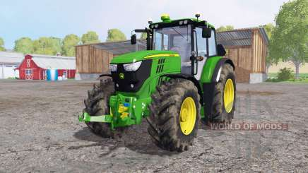 John Deere 6170M dirty tires для Farming Simulator 2015