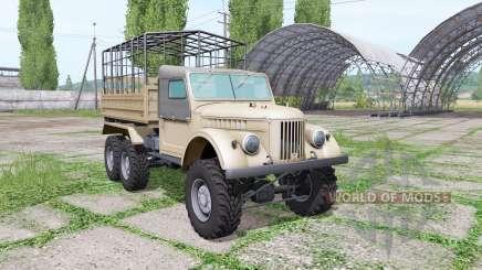 ГАЗ 69 трёхосный для Farming Simulator 2017