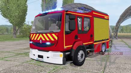 Renault Midlum Crew Cab 4x2 firetruck 2006 для Farming Simulator 2017