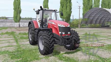 Massey Ferguson 8737 red для Farming Simulator 2017