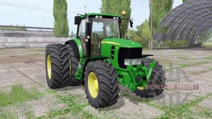 John Deere 7530 Premium dual rear для Farming Simulator 2017