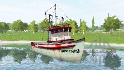 Рыболовное судно v1.2 для Farming Simulator 2017