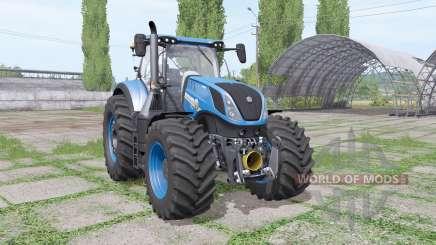 New Holland T7.315 blue для Farming Simulator 2017