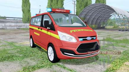 Ford Transit Custom Kombi Feuerwehr v0.9 для Farming Simulator 2017