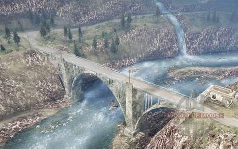 La luna 11 - Dangerous Roads 2 для Spintires MudRunner