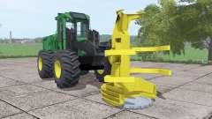 John Deere 643K для Farming Simulator 2017
