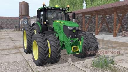John Deere 6250R twin narrow wheels для Farming Simulator 2017