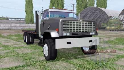 GMC 9500 flatbed для Farming Simulator 2017