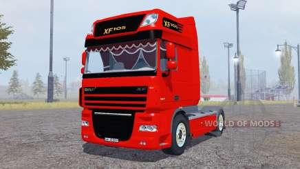 DAF XF105 FT Super Space Cab для Farming Simulator 2013