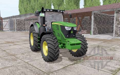 John Deere 6195R v2.0 для Farming Simulator 2017