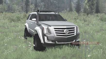 Cadillac Escalade (GMTK2XL) 2015 off-road для MudRunner