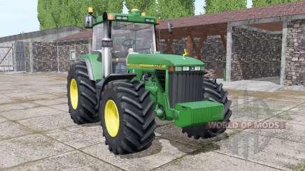 John Deere 8400 more realistic для Farming Simulator 2017