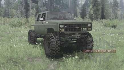 Chevrolet K30 1985 crawler для MudRunner