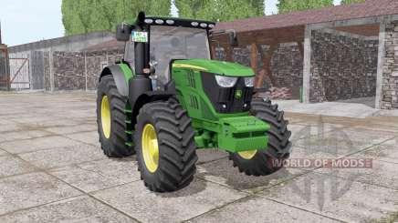 John Deere 6195R v2.0 для Farming Simulator 2017